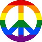 sticker decal car bike macbook bumper room peace love rainbow symbol hippie