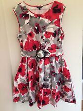 Beautiful Papaya Occasionwear Dress Size 14 Party Wedding Christmas Bold Red
