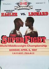 Marvelous Marvin Hagler vs Sugar Ray Leonard official poster The Super Fight