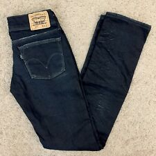 """Womens Europe Levi's 571 """"Black is Back Special Edition"""" SLIM Denim Jeans 26x32"""