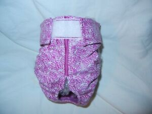 Female Dog Puppy Pet Diaper Washable Pants Sanitary Underwear ROSETTES SMALL