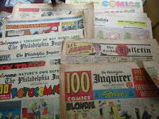 Approx. 40 Pages of Color Sunday Comics, Philadelpia Papers 1946 to 1981
