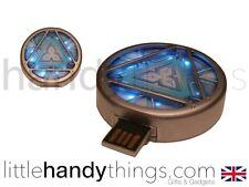 Iron Man ARC Reactor LED Flash 16GB Flash Drive/Pen Drive Memory Stick Key Ring