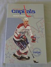 Original NHL Washington Capitals 1988-89 Official Hockey Media Guide