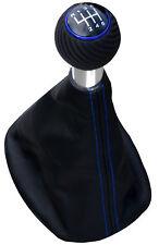 Adatto per SEAT TOLEDO 5p 6g blu alluminio Pomello a siringa quadro sacco SPORT EDITION