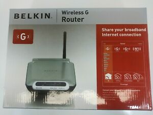 Belkin Wireless G Router 54 Mbps 4-Port 10/100  F5D7230-4 New Sealed in Box 2007