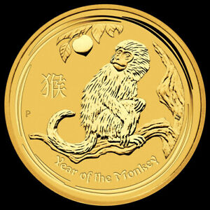 LUNAR GOLD II 5$ 1/20 OZ 2016 Year of the MONKEY - Australia  - ORO -