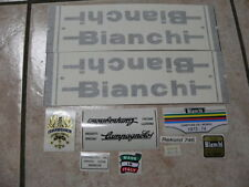 Bianchi bici Bike 10 Vinyl Decals Stickers Frame Replacement Set vintage adesivi