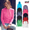 Anvil Women's Fashion Basic Long Sleeve Hooded Tee 887L -Ladies Plain Fitted Top