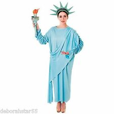 Ladies Statue of Liberty American USA Fancy Dress Costume One Size UK 10-18