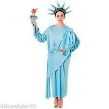 Ladies STATUA DELLA LIBERTà AMERICANA USA COSTUME una taglia UK 10-18