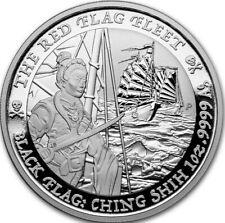 "*NEW* 2021 Tuvalu 1 oz Silver Black Flag ""The Red Flag Fleet"" Ships free!"