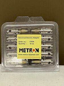 Metron ECG Tester Universal Banana Adapter Electrodes - 10/Box