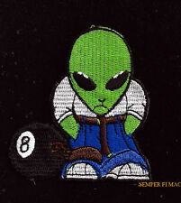 ILLEGAL ALIEN PATCH GROOM LAKE AREA 51 Flying Saucer Roswell PIN UP 8TH BALL
