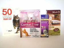 Pet Cat Bundle Shampoos, Comfort Zone Feliway Cat Spray, Litter Liners, Book