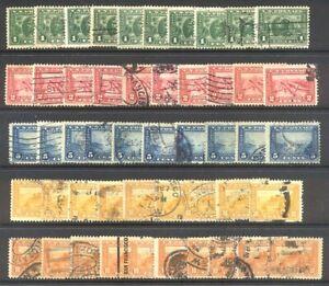 U.S. #397-404 Used (x10) - 1913-15 Pan-Pacific ($1,500)