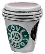 S3666 Sterling Silver Coffee Cup Bead for European Charm Bracelet