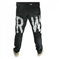 G-Star Raw Herren Hose Elwood 3D Tapered Painted Jeans 5620 Schwarz