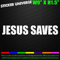 JESUS SAVES Christian Car Window Decal Bumper Sticker God Savior Bible Church707