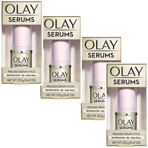 4 OLAY SERUMS PRESSED STICK B3 & SAKE KASU .47 OZ EACH REFRESHING