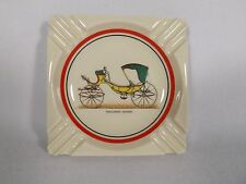 VINTAGE PICCOLOMINI CALECHE OLD BUGGY ASHTRAY RED GREEN YELLOW VIBRANT MARKED