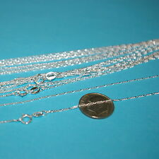 """100 pieces 50x16.5"""" + 50x18"""" Sterling Silver 925 1mm FIGARO CHAIN NECKLACES Lot"""