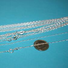 "20 pcs 18"" 45cm Diamond Cut Sterling Silver 925 1mm FIGARO CHAIN NECKLACES Lot"