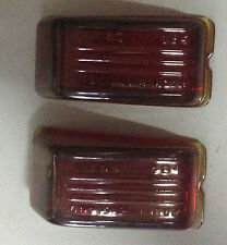 NOS Pair of Lucas Glass Stop / Tail Lens 572578. 1948-1953 Hillman Minx.--