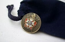 Masonic Order Of DeMolay Chapter Lapel Pin Plus Gift Pouch