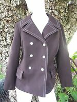 1960s MOD Vintage Womens Double Breasted Wide Lapels Jacket Blazer Medium Brown