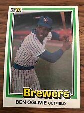 1981 Donruss Ben Oglivie Milwaukee Brewers #446