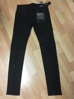 NWD Mens Diesel SLEENKER Stretch Denim 084SB JET BLACK Slim W28 L32 H5.5 RRP£170