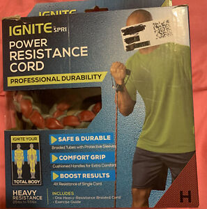 NEW IGNITE by SPRI Power Resistance Cord HEAVY 25 To 55 lbs Safe& Durable