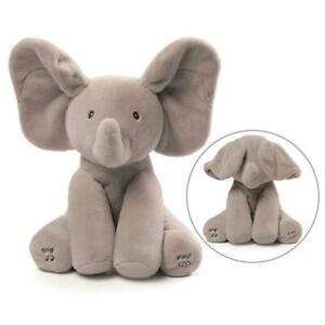 GUND Animated Flappy The Elephant Stuffed Animal Plush Grey 30.5cm