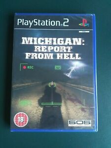 MICHIGAN REPORT FROM HELL - NEW & SEALED - UK VERSION - RARE PLAYSTATION 2 - PS2