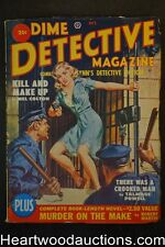 Dime Detective Oct 1950 Cornell Woolrich, Saunders GGA prison-escapee Cvr - High