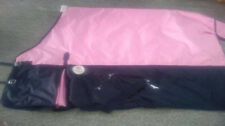 1200D Waterproof Cotton Lined Turnout Rug with 180g Fill 6'9 Pink & Navy Blue