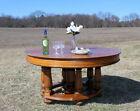 Gorgeous+Antique+Solid+Oak+FARM+HOUSE+Dining+Table+c1900%21