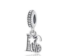16th Birthday 925 Sterling Silver Charm for Charms Bracelet Birthday Milestone