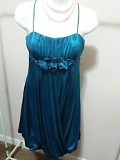 MORGAN & CO Teal Prom Evening Party Dress Size M WC575