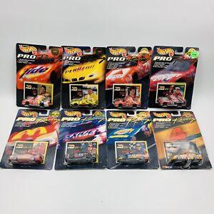 Lot of 8 Vintage 90s 1997 Hot Wheels Pro Racing NASCAR Die-Cast Cars NIB