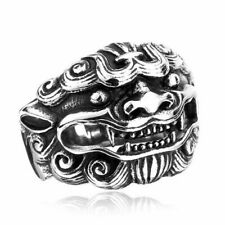 Cool Lucky Unicorn Mens Women Fashion Biker Tiger Classic Metal Party Ring Gifts