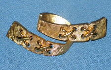 Vintage MONET Gold Tone Ribbon Belt Brooch Pin