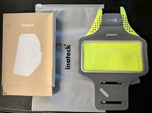 Inateck Gray/Green Sport Armband Running Jogging Gym Arm Band Pouch Cell Phone