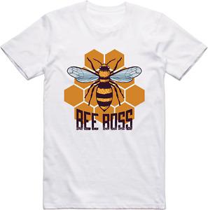 T-Shirt Drôle Abeille Boss Modèle Coupe Standard 100% Coton T-Shirt