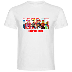 Roblox Personalised T shirt Your Name Gift Birthday Boy Girl Gamer Present