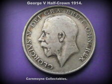 George V Silver Half -Crown 1914. .925 Fine.AH5640.