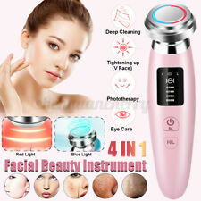 4 in 1 LED Skin Beauty Instrument Ultrasonic Face Massager Anti-aging Device