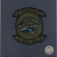 Hsl-60 Jaguars Sh-60 Seahawk Us Navy Sikorsky Subdued Helicopter Squadron Patch