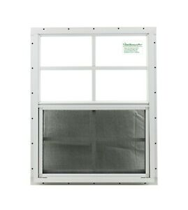 Shed Windows 18x23 White J-Chann SAFETY / TEMPERED GLASS Playhouse Garage